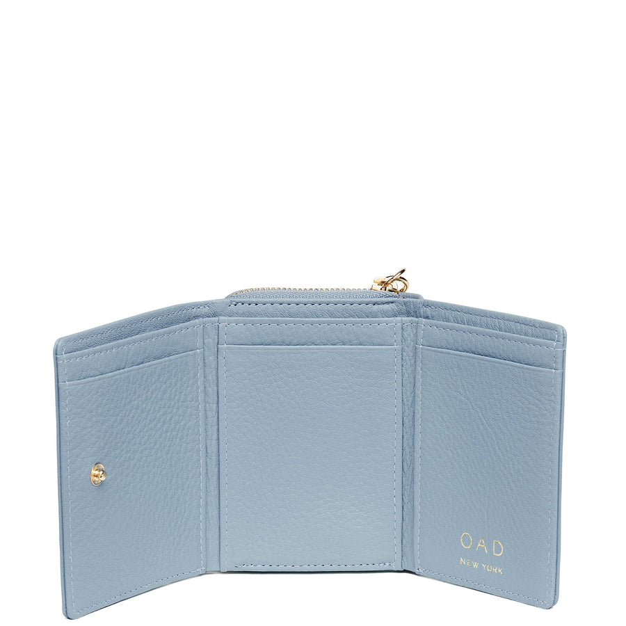 Mini Zip Around Wallet - Powder Blue - OAD NEW YORK