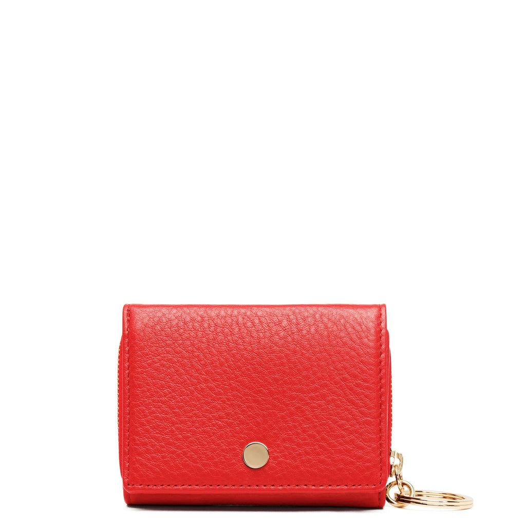 Mini Zip Around Wallet - Scarlet