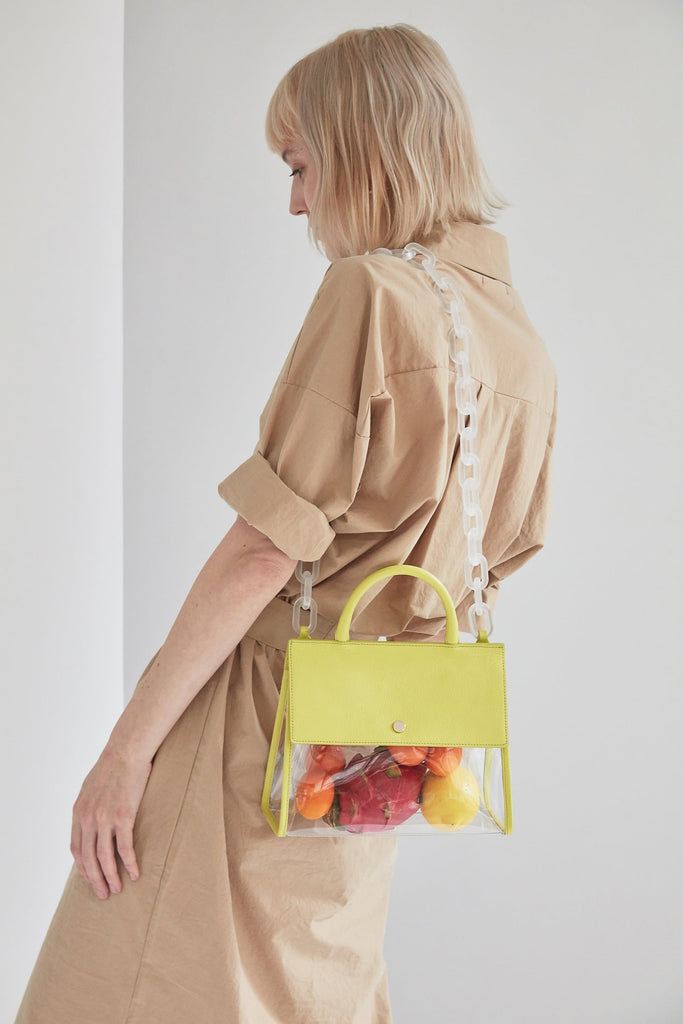 Clear Harper Tote - Lemonade - OAD NEW YORK