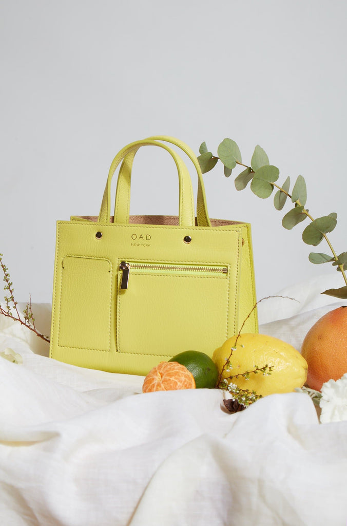 Mini Pocket Tote - Lemonade
