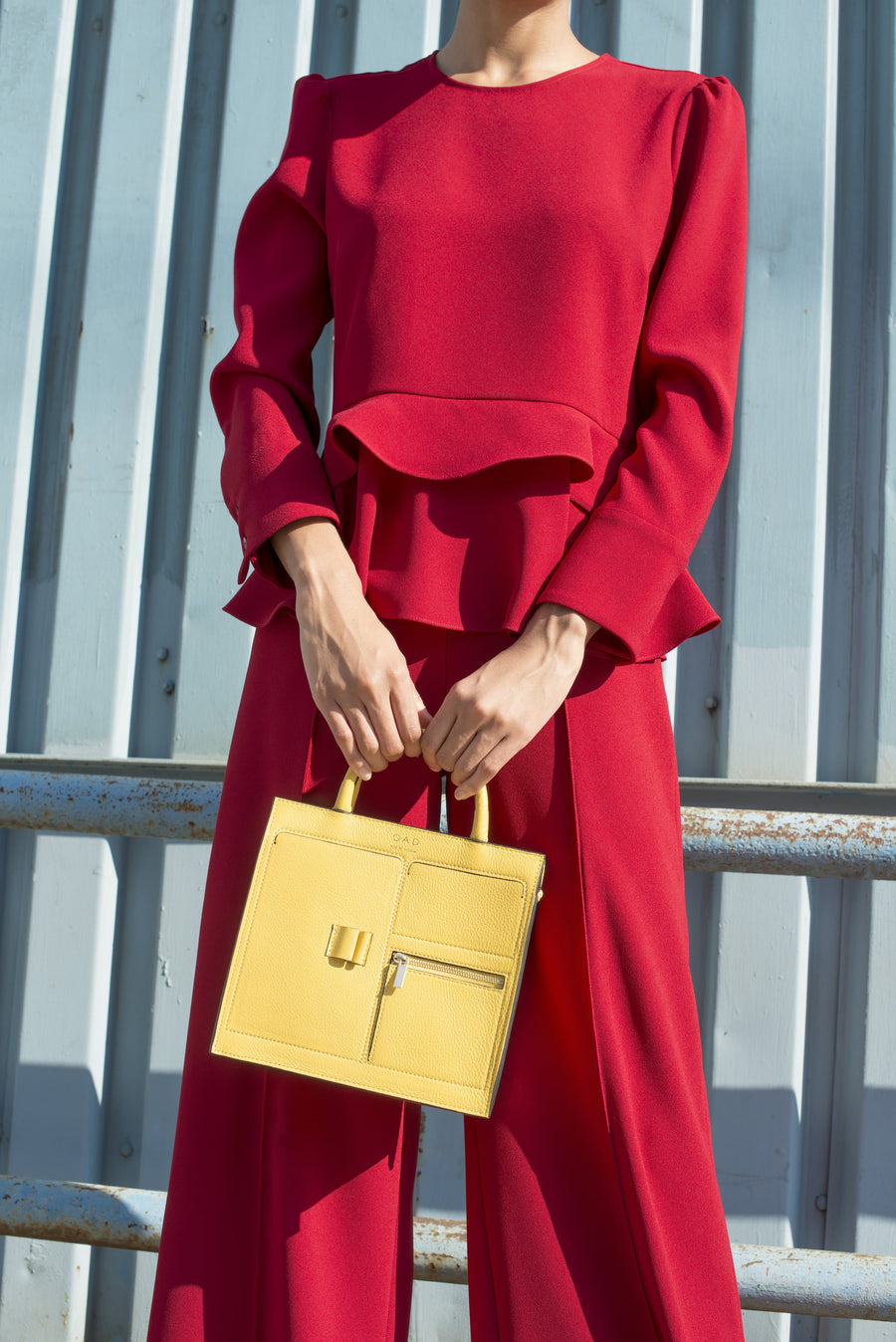 Mini Kit Zip Satchel - Lemon Yellow - OAD NEW YORK
