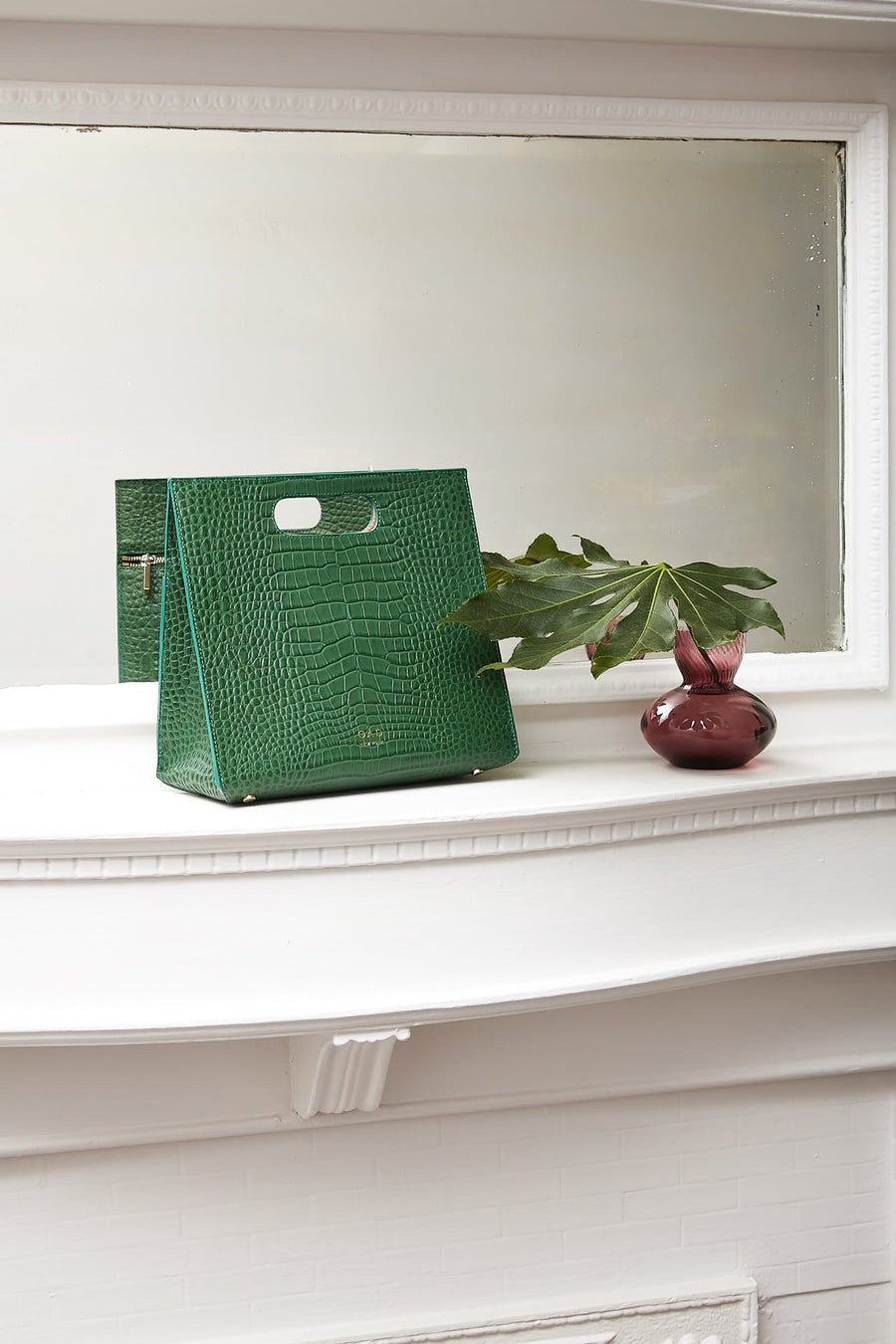 Croco Quinn Tote - Fern - OAD NEW YORK