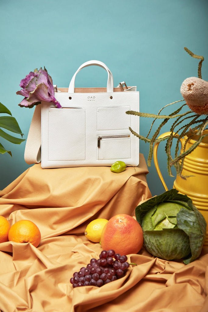 Pocket Tote - Bright White - OAD NEW YORK