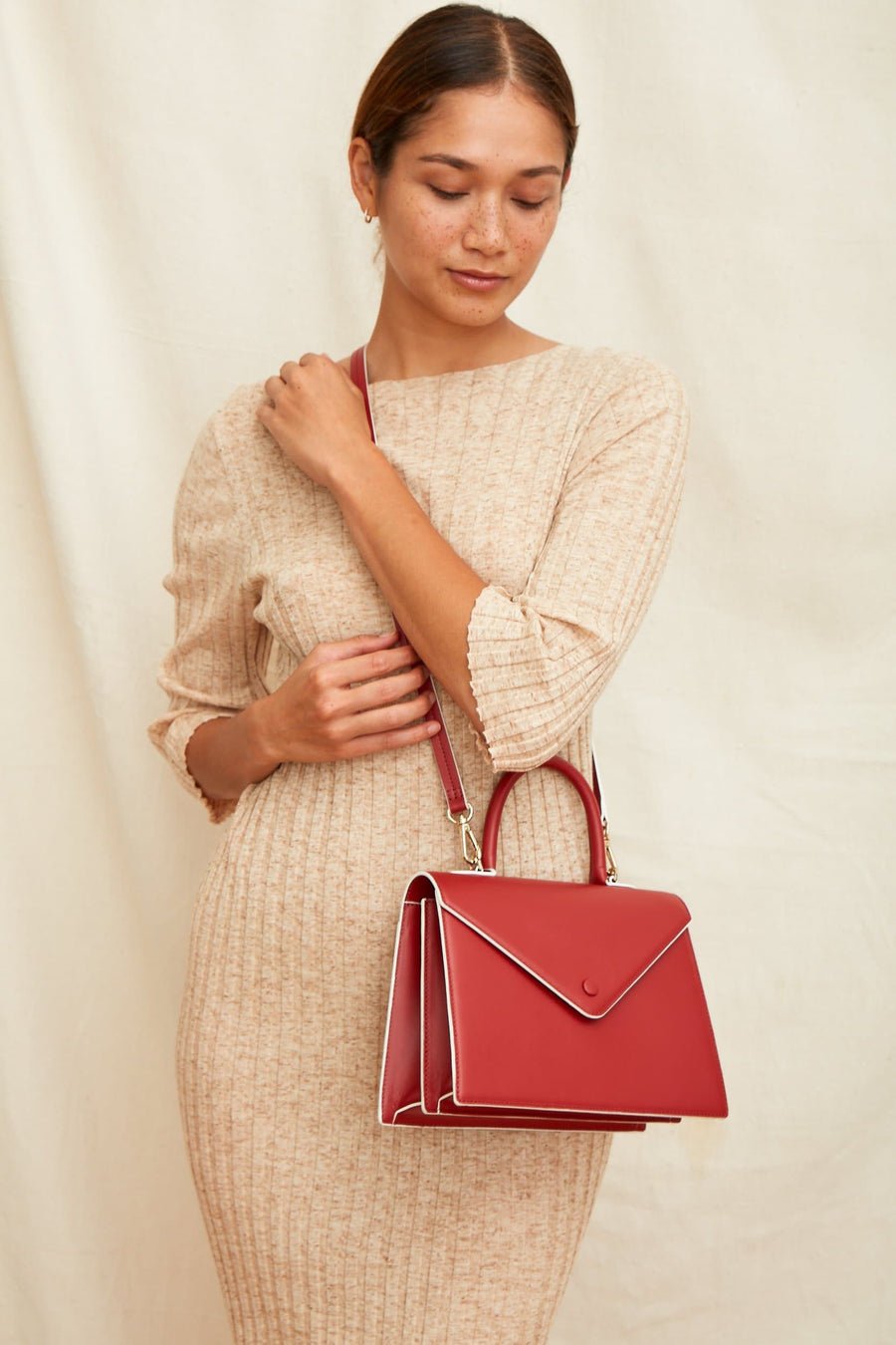Agnes Satchel - Brick Red