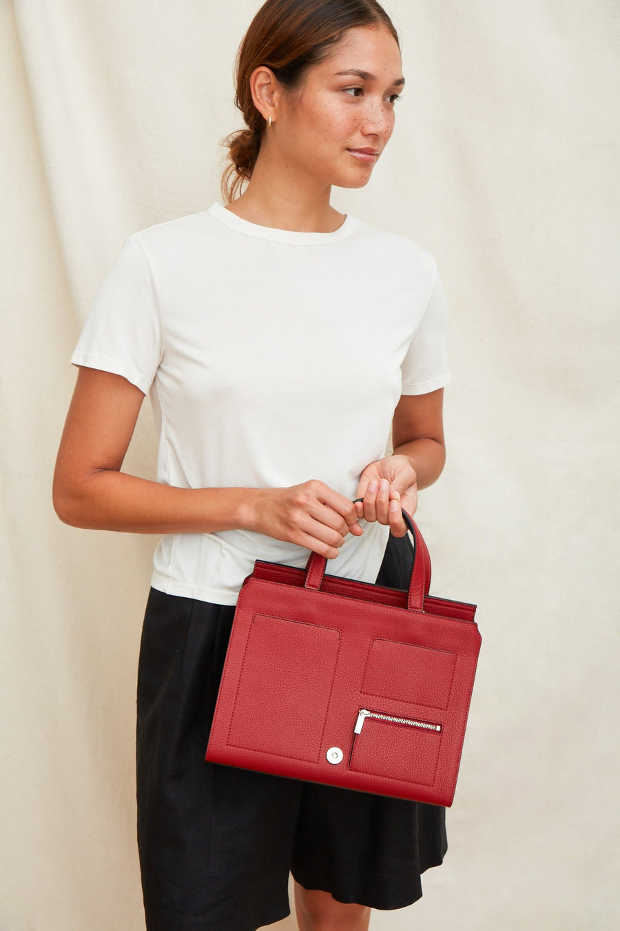 Prima Satchel - Brick Red