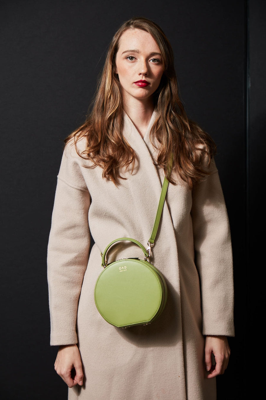 Calf Mini Circle Satchel - Sage - OAD NEW YORK