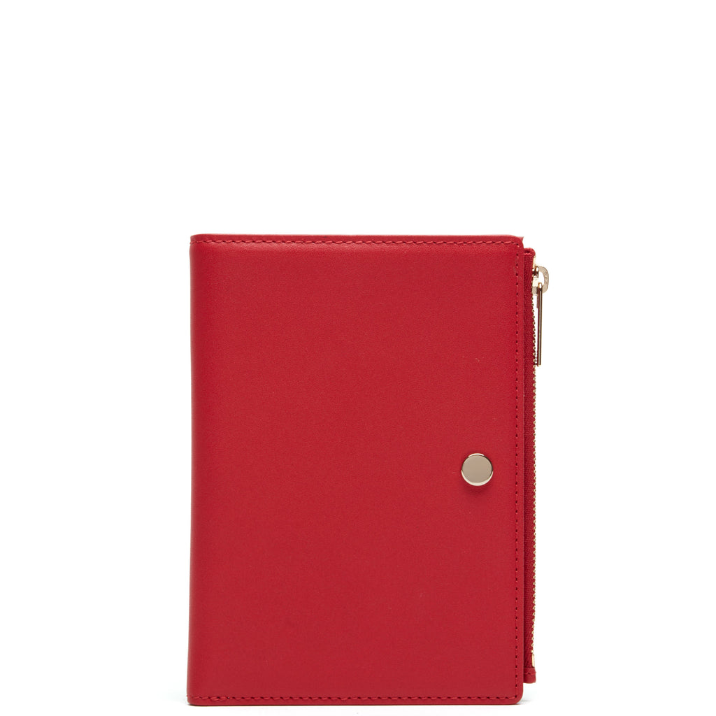 Calf Everywhere Travel Wallet - Rouge - OAD NEW YORK