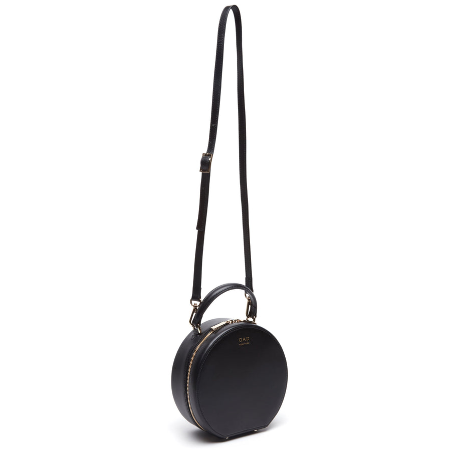 Calf Mini Circle Satchel - True Black - OAD NEW YORK