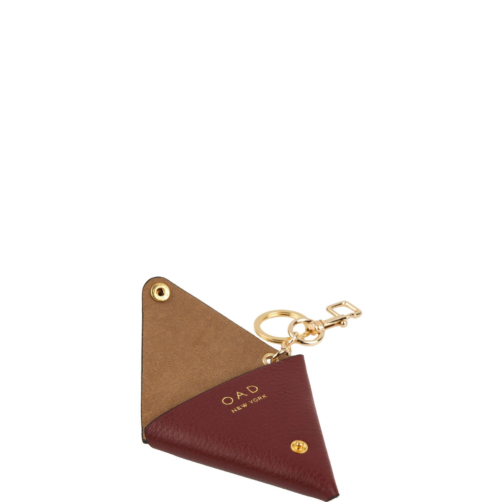 Triangle Key Ring - Dark Wine - OAD NEW YORK - 2