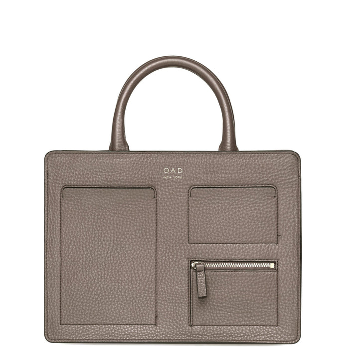 Kit Zip Satchel - Pebble Grey - OAD NEW YORK