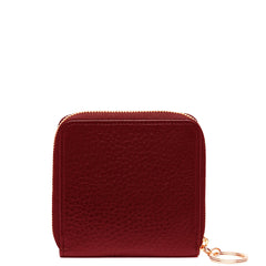 Half Zip Around Wallet - Dark Wine - OAD NEW YORK - 1