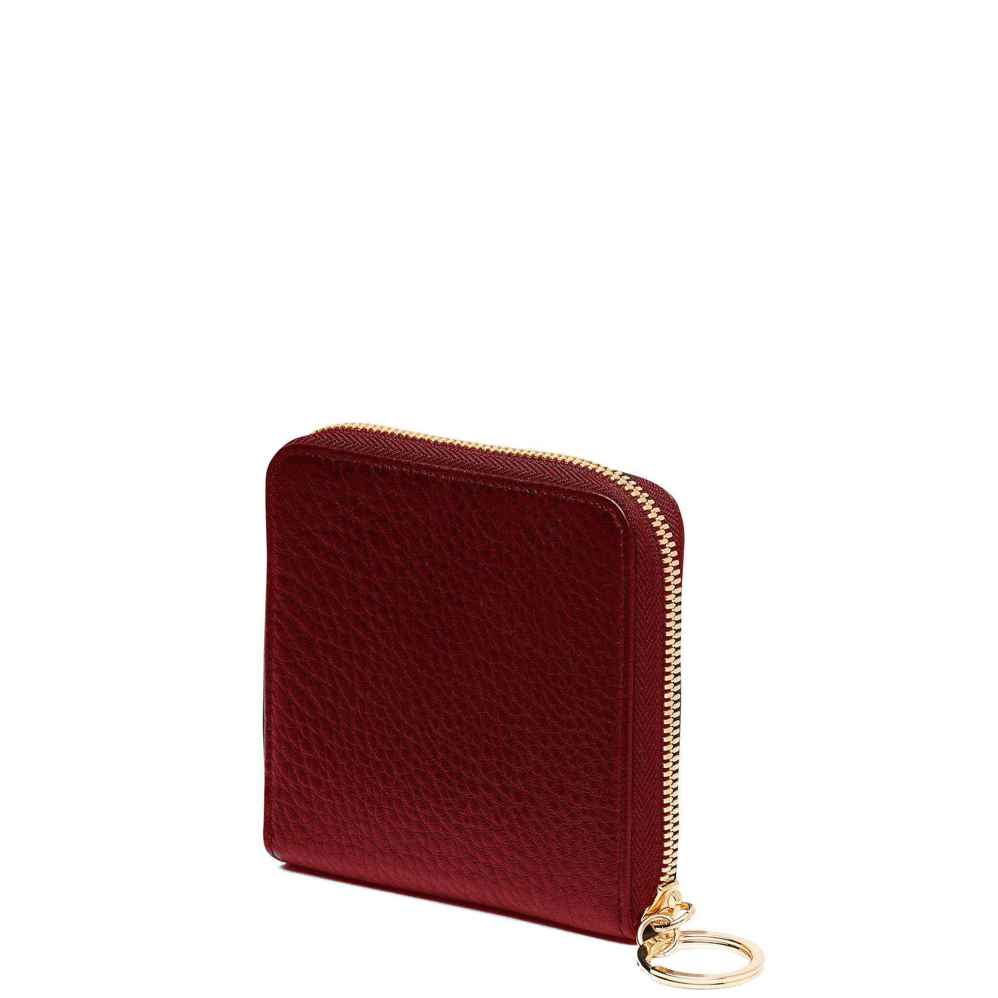 Half Zip Around Wallet - Dark Wine - OAD NEW YORK - 3