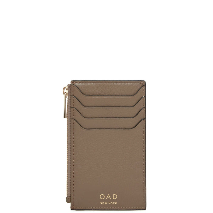 Billy Zip Card Case - Porcini - OAD NEW YORK