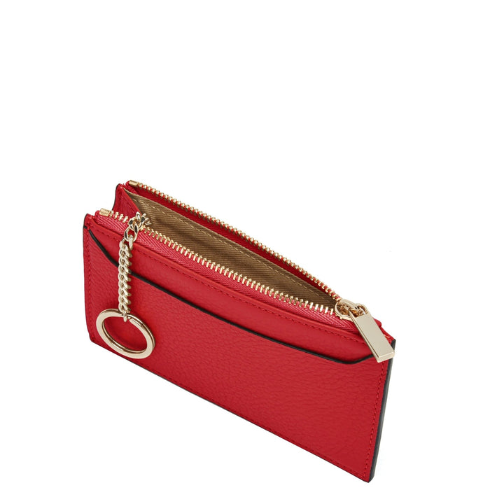 Billy Zip Card Case - Rouge - OAD NEW YORK