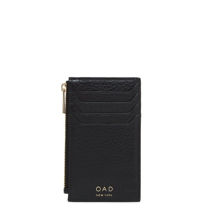 Billy Zip Card Case - True Black - OAD NEW YORK
