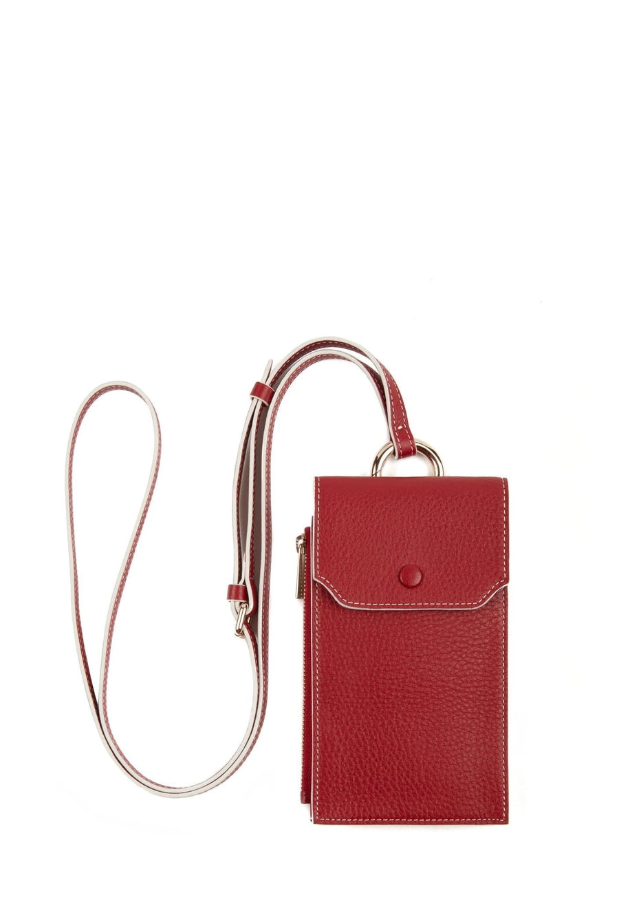 C Izzi Phone Crossbody - Brick Red - OAD NEW YORK