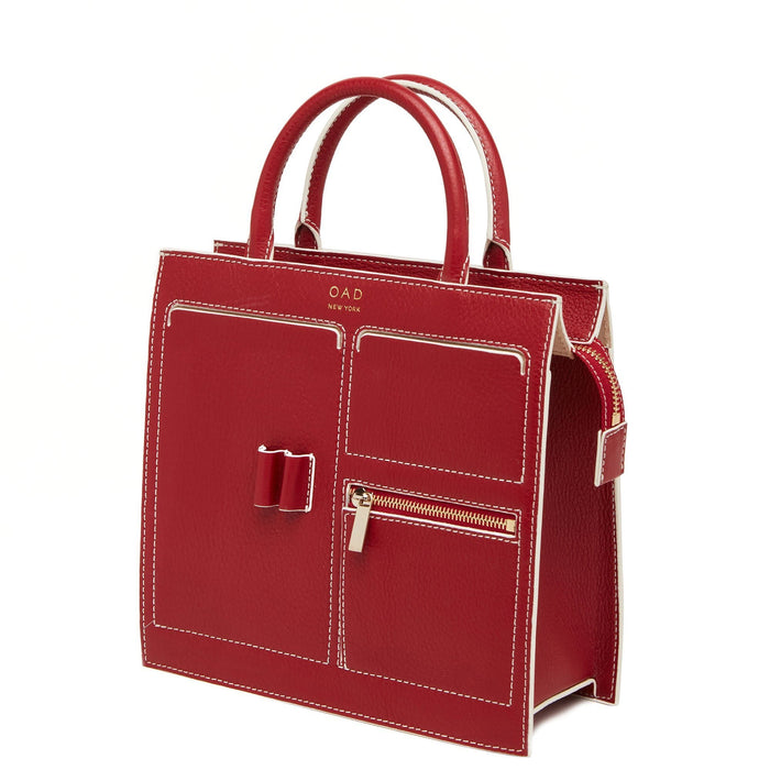 C Mini Kit Zip Satchel - Brick Red - OAD NEW YORK