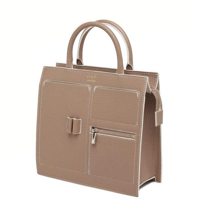 C Mini Kit Zip Satchel - Mocha - OAD NEW YORK