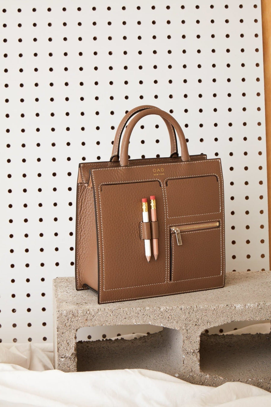 C Mini Kit Zip Satchel - Porcini - OAD NEW YORK