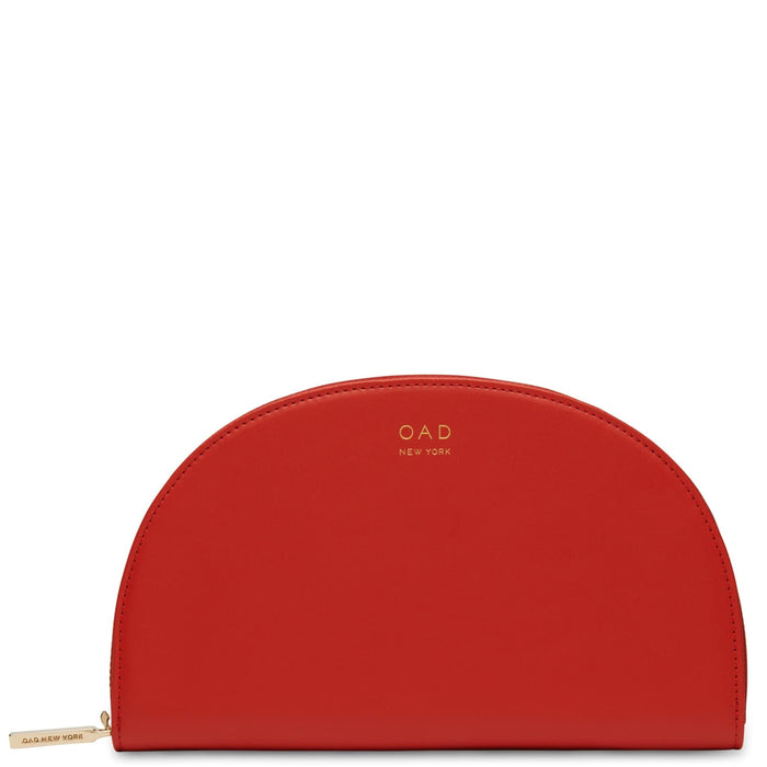 Calf Dia Continental Mirror Wallet - Classic Red - OAD NEW YORK