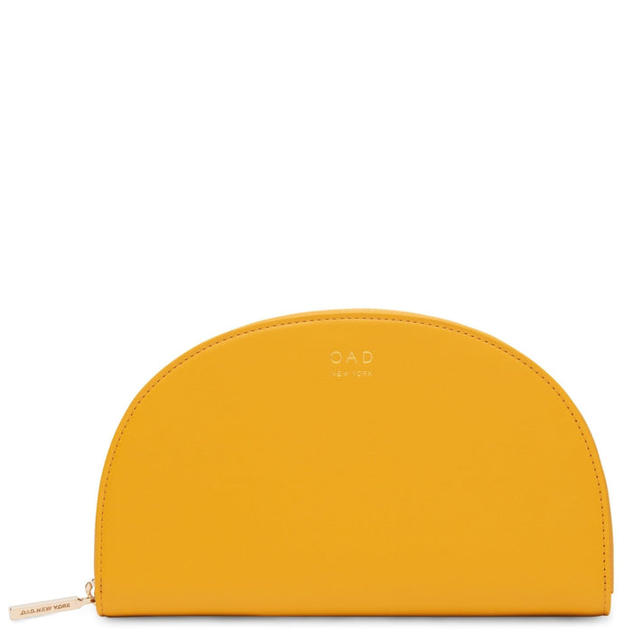 Calf Dia Continental Mirror Wallet - Honey - OAD NEW YORK