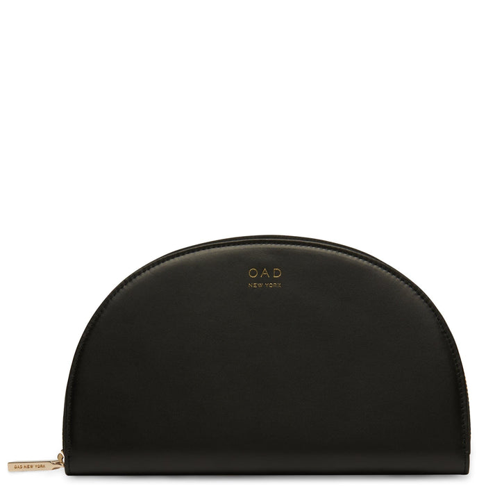 Calf Dia Continental Mirror Wallet - True Black - OAD NEW YORK
