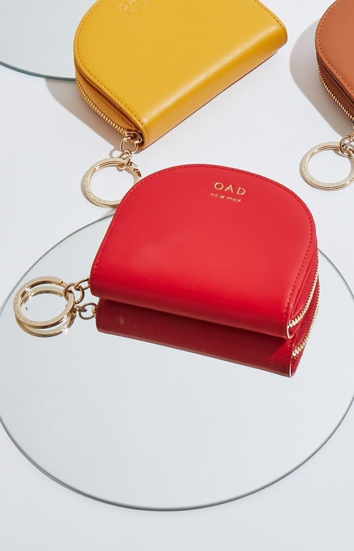 Calf Dia Mini Mirror Wallet - Classic Red - OAD NEW YORK