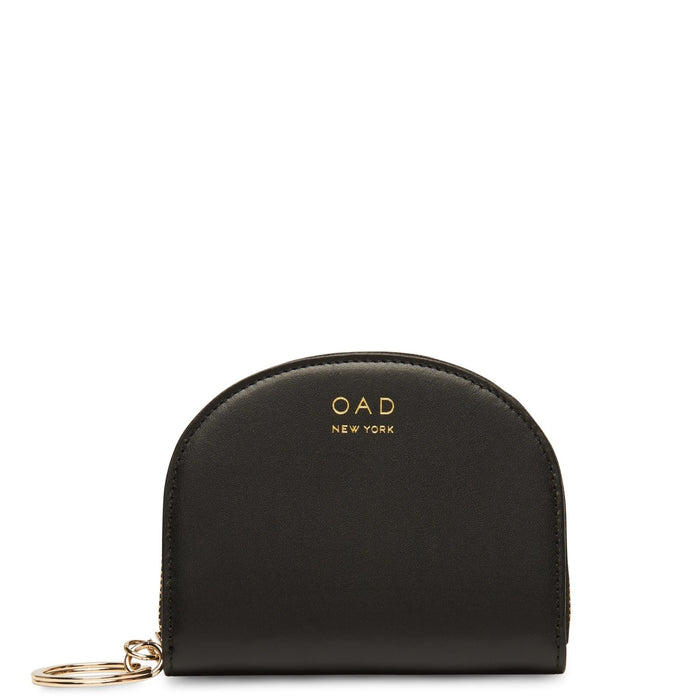Calf Dia Mini Mirror Wallet - True Black - OAD NEW YORK
