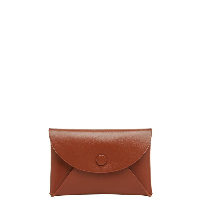 Calf Envelope Card Case - Sienna - OAD NEW YORK