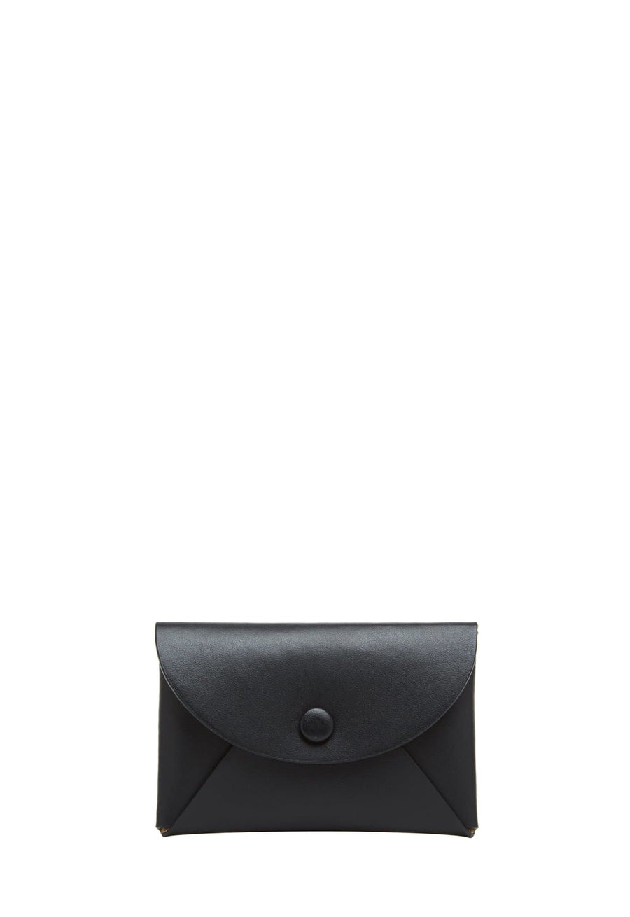 Calf Envelope Card Case - True Black - OAD NEW YORK