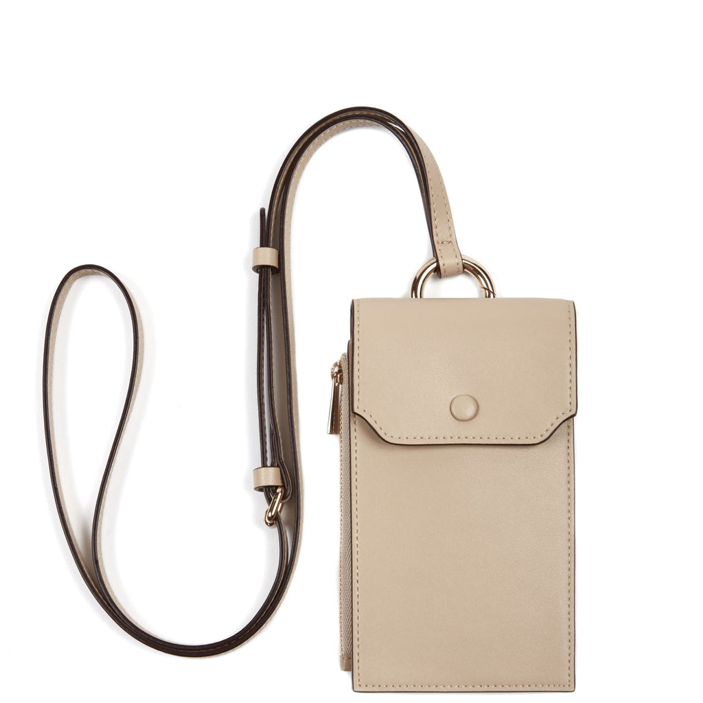 Calf Izzi Phone Crossbody - Beige - OAD NEW YORK