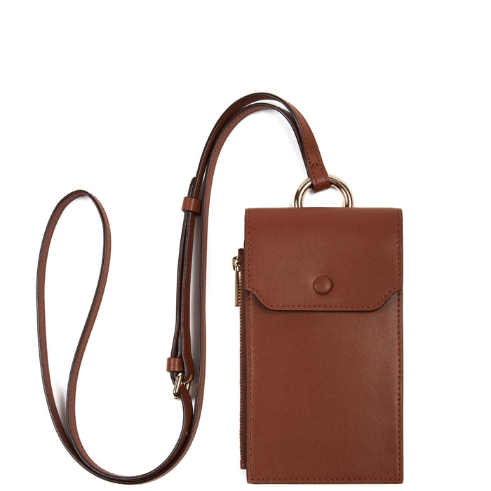 Calf Izzi Phone Crossbody - Brandy - OAD NEW YORK