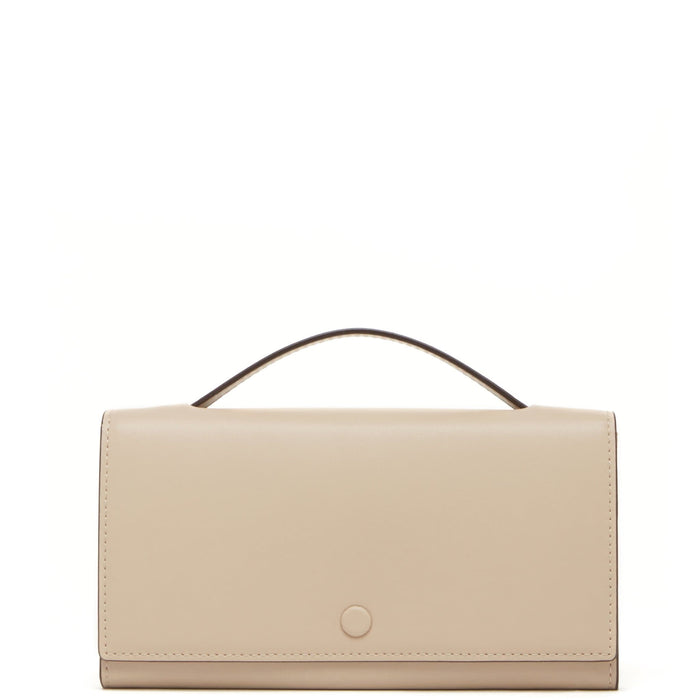 Calf Zoe Clutch Wallet - Beige - OAD NEW YORK