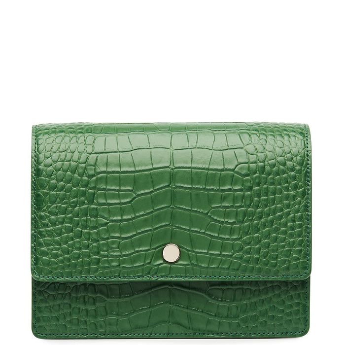 Croco Mini Messenger Courier - Fern - OAD NEW YORK