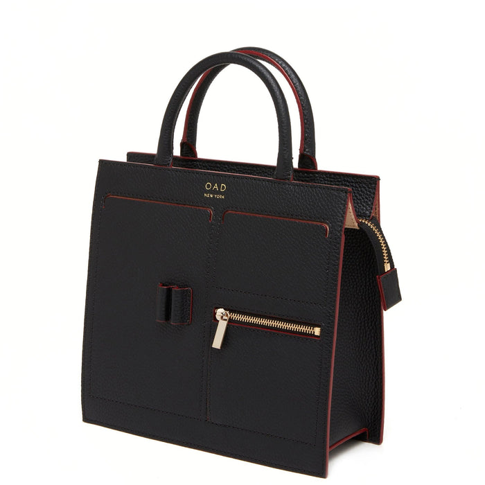 E Mini Kit Zip Satchel - True Black - OAD NEW YORK