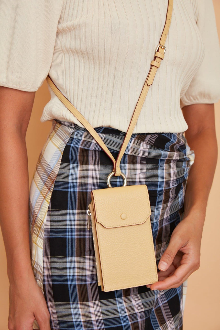 Izzi Phone Crossbody - Butterscotch - OAD NEW YORK