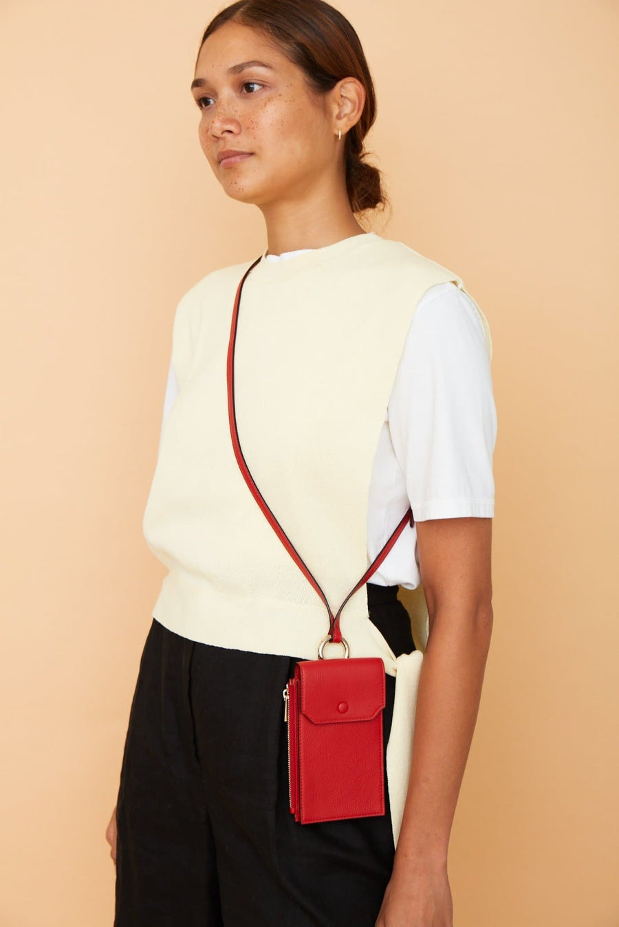Izzi Phone Crossbody - Rouge - OAD NEW YORK