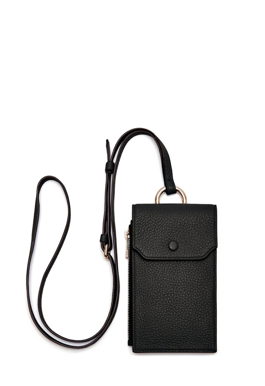 Izzi Phone Crossbody - True Black - OAD NEW YORK