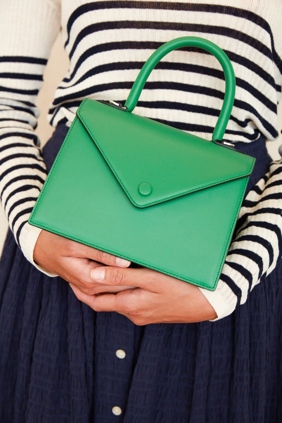 Mini Agnes Satchel - Kelly Green - OAD NEW YORK
