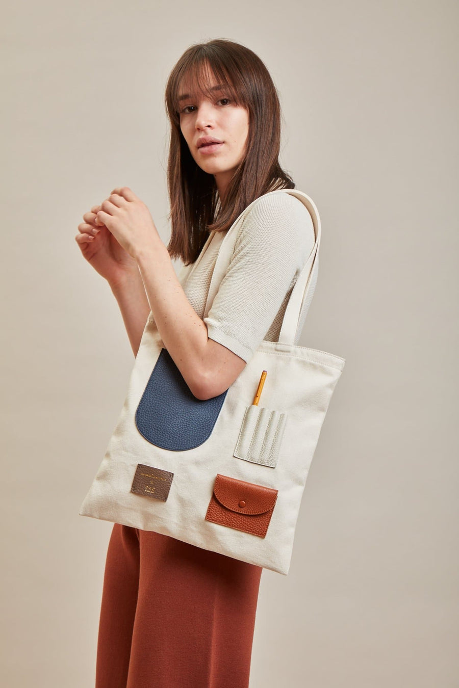 OAD x CW Pencils Collab Tote - Neutrals - OAD NEW YORK