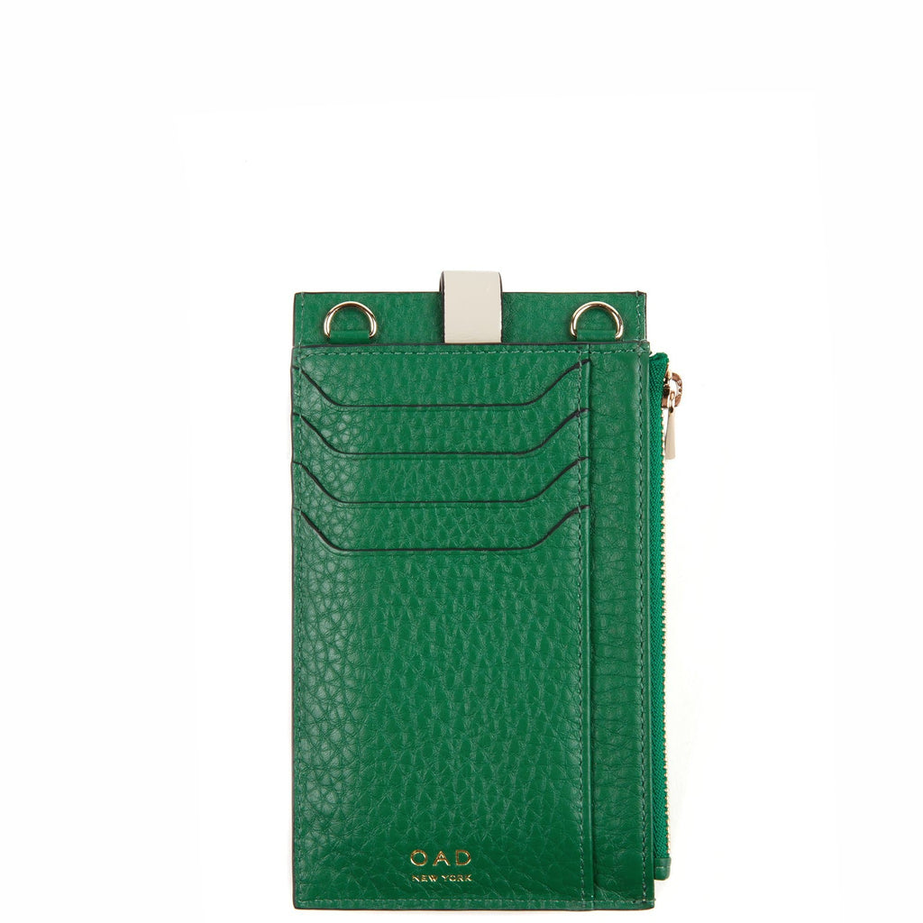 Parker Phone Crossbody - Kelly Green + Creme