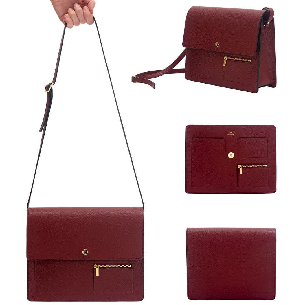 Messenger Courier - Dark Wine - OAD NEW YORK - 2