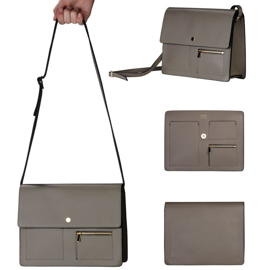 Messenger Courier - Pebble Grey - OAD NEW YORK - 2