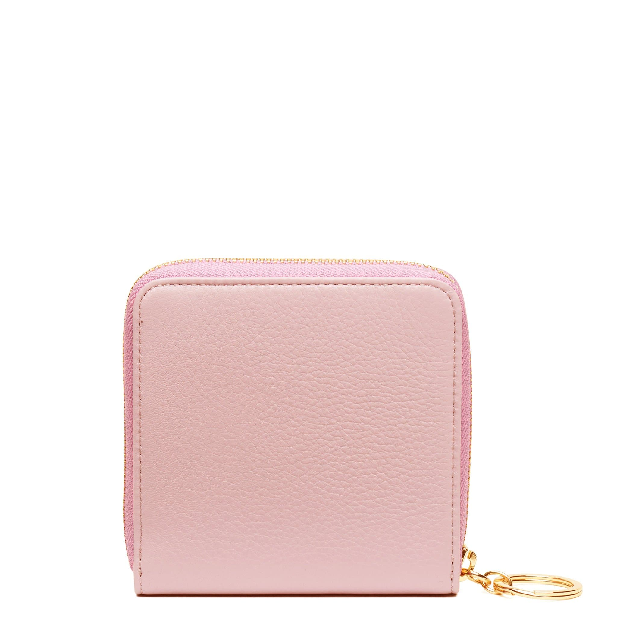 Half Zip Around Wallet - Rose Pink - OAD NEW YORK - 1