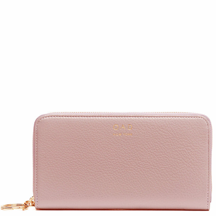 Full Zip Around Wallet - Rose Pink - OAD NEW YORK - 1