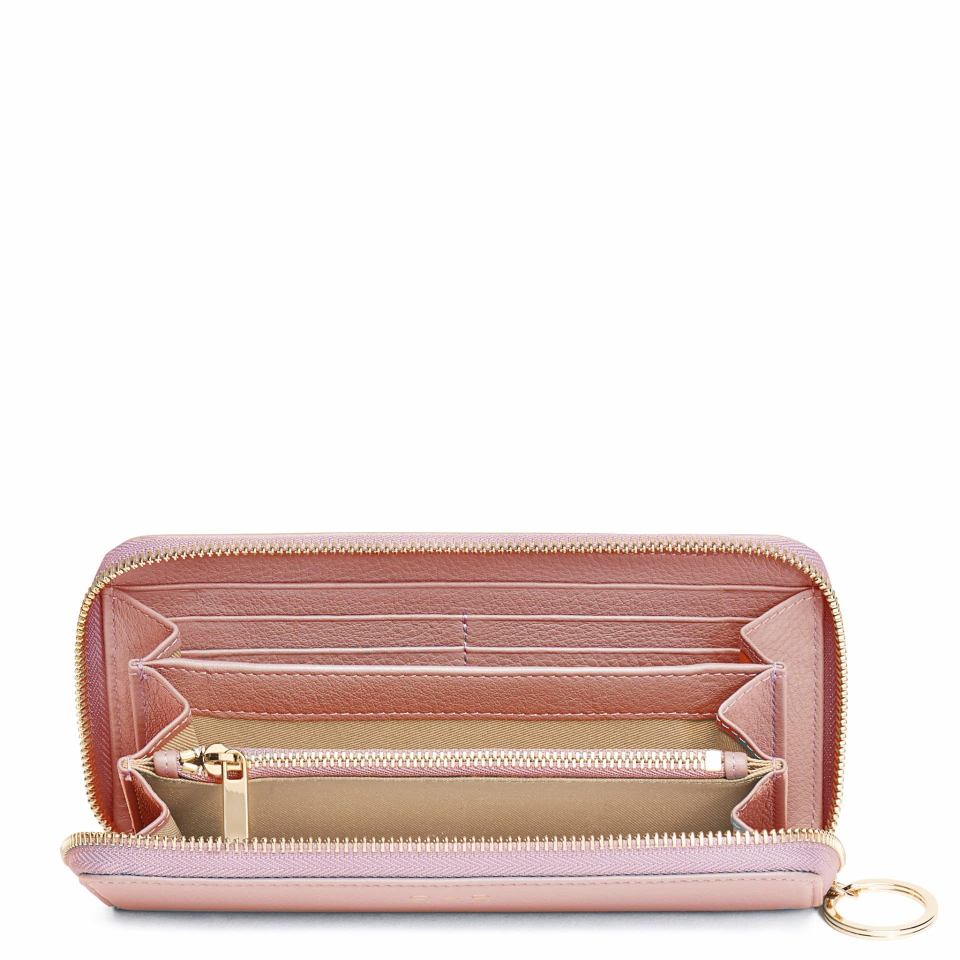 Full Zip Around Wallet - Rose Pink - OAD NEW YORK - 2
