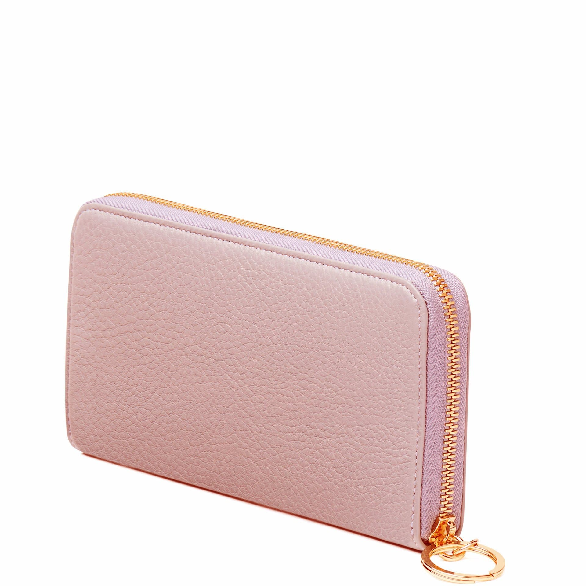 Full Zip Around Wallet - Rose Pink - OAD NEW YORK - 3