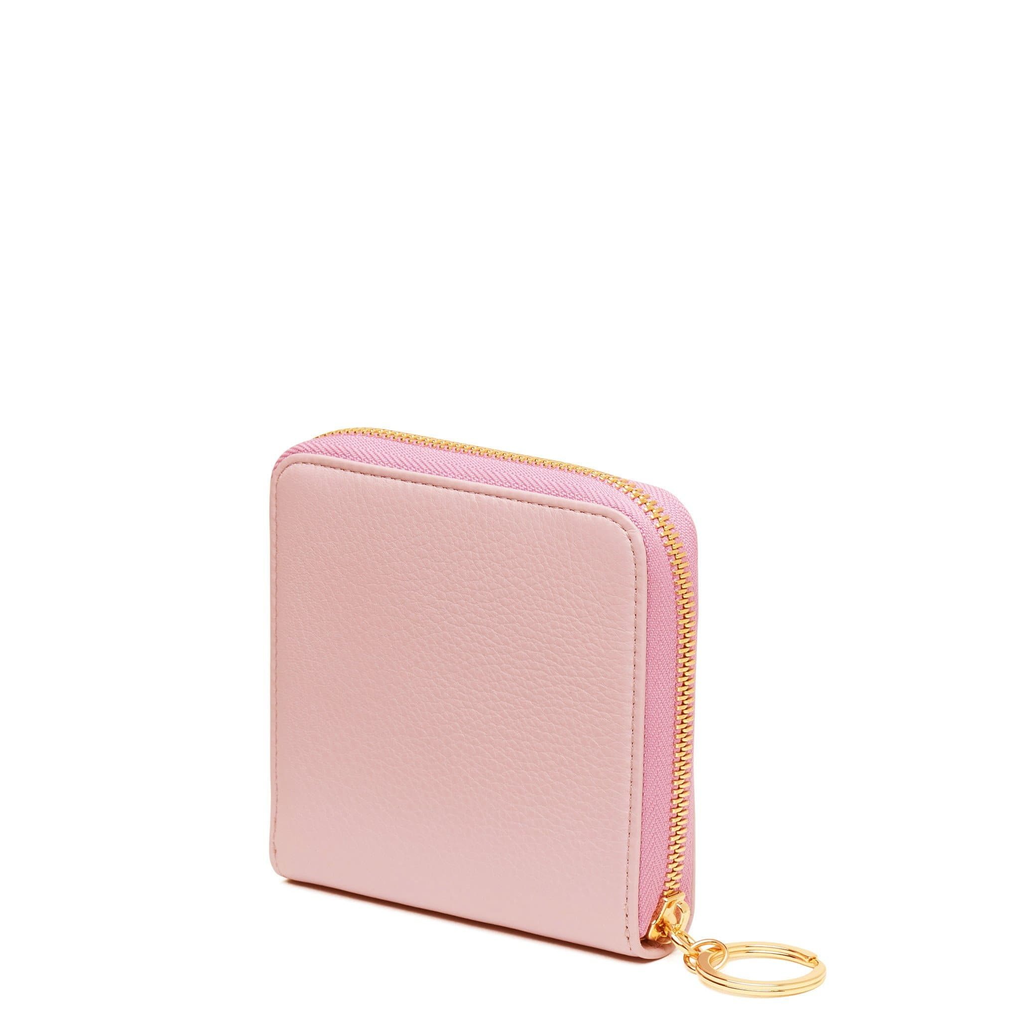 Half Zip Around Wallet - Rose Pink - OAD NEW YORK - 3