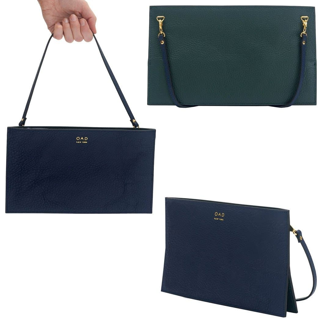 Line Pochette - Navy Blue + Forest Green - OAD NEW YORK - 2
