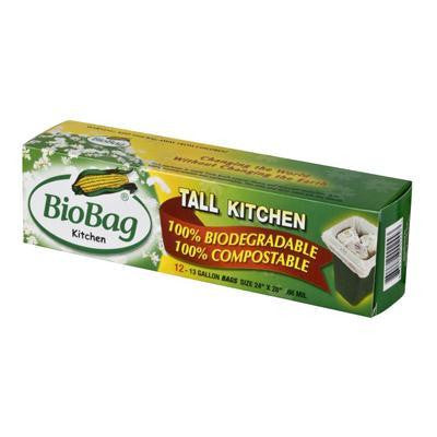 Biobag Tall Kitchen Waste Bag 1 (12x12 Ct)